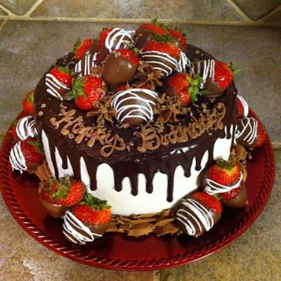 ترکیب شکلات با توت فرنگی