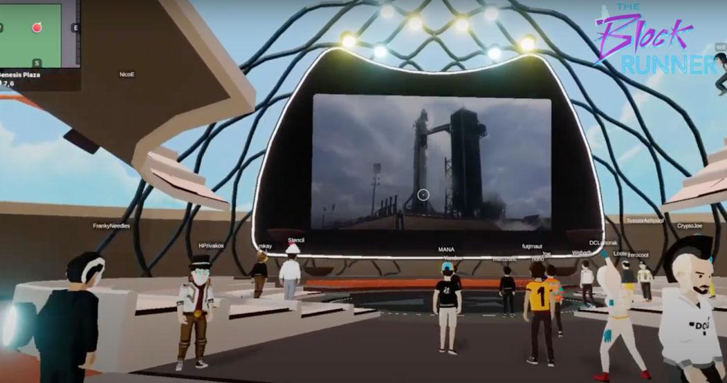 تصویری از زمان پرتاب سفینه به فضا در پلتفرم Decentraland