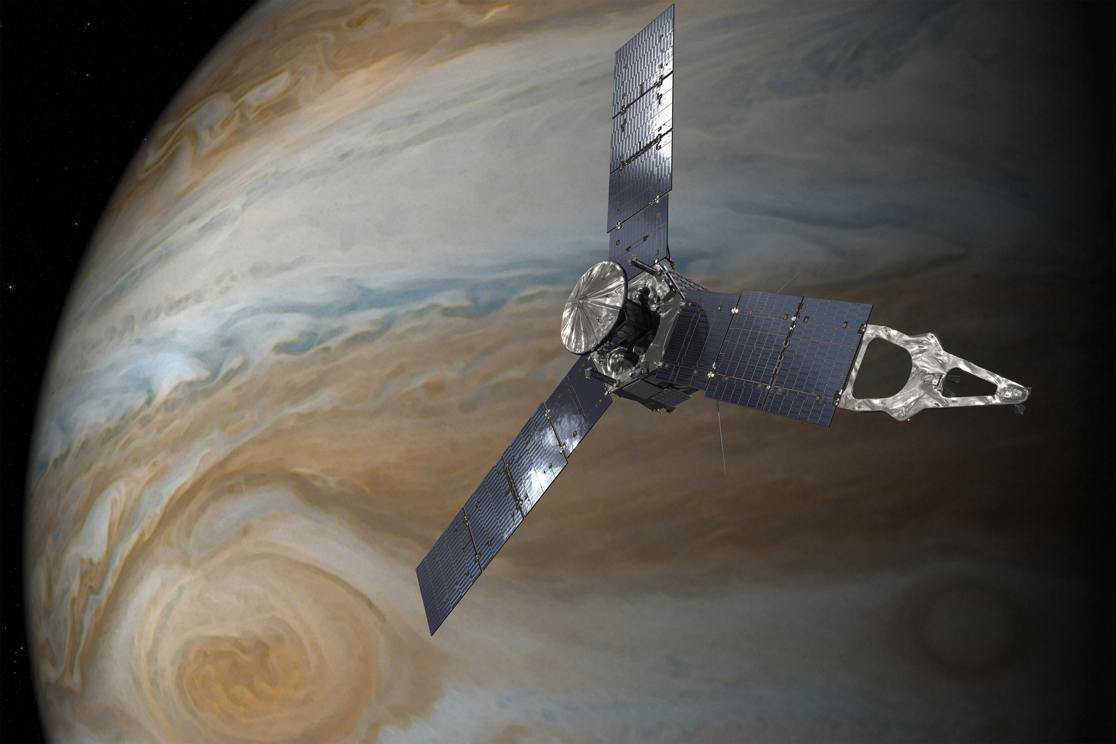 سفینه Juno در مدار مشتری